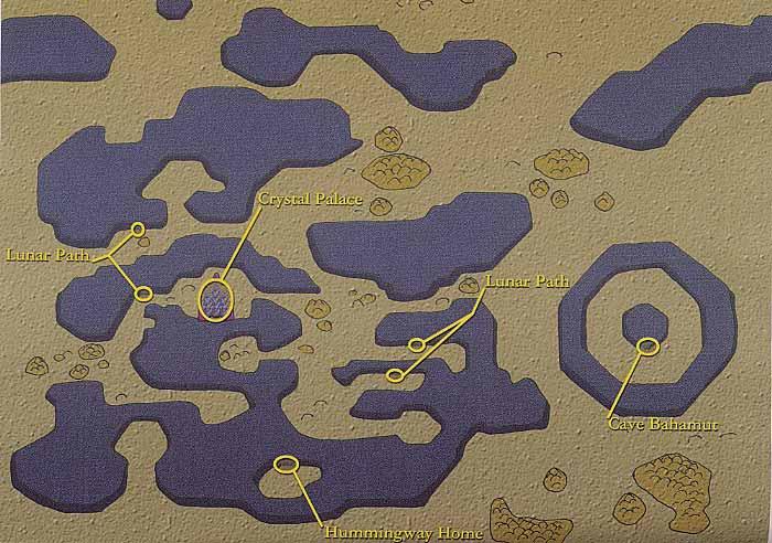 Final Fantasy 4 IV FF4 World Map