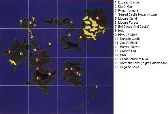 Final Fantasy 5 V Ff5 World Maps